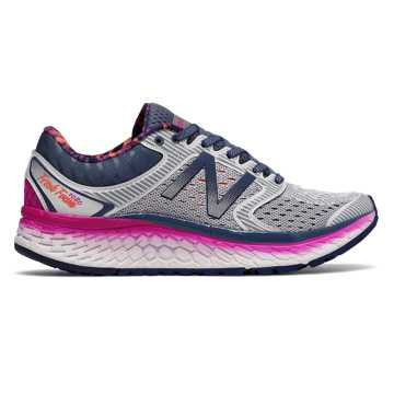 New Balance Fresh Foam 1080v7, Arctic Fox with Poisonberry & Vivid Tangerine