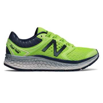 New Balance Fresh Foam 1080v7, Bleached Lime Glo with Vintage Indigo