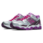 NB New Balance 1340v2, Silver with Pink Zing & Purple Cactus Flower