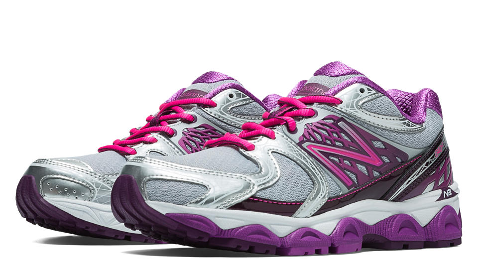 New Balance Womens Running Shoes Silver/Purple