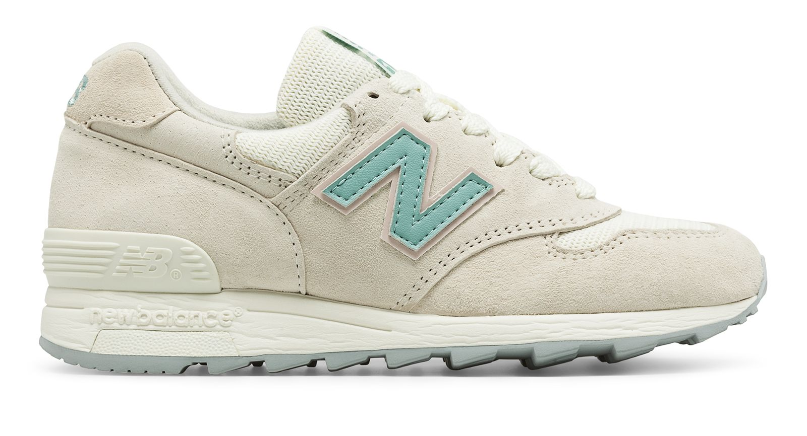 NB 1400 New Balance, Sea Salt with Storm Blue