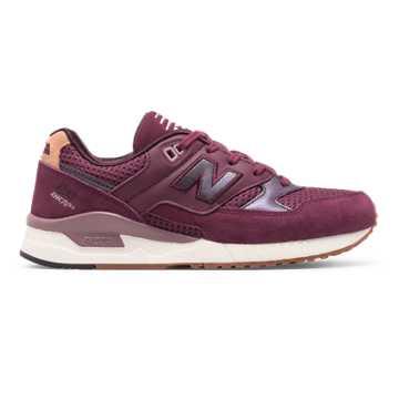 New Balance 530系列复古鞋, 酒红色