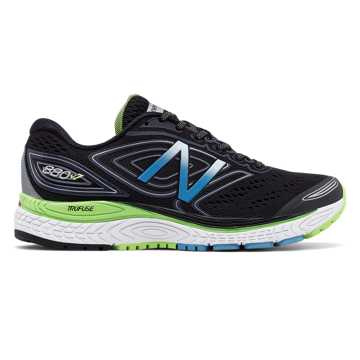 New Balance 880v7, Black with Thunder & Lime Glo