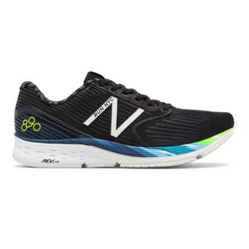 New Balance 890v6 NYC Half, Black with Techtonic Blue