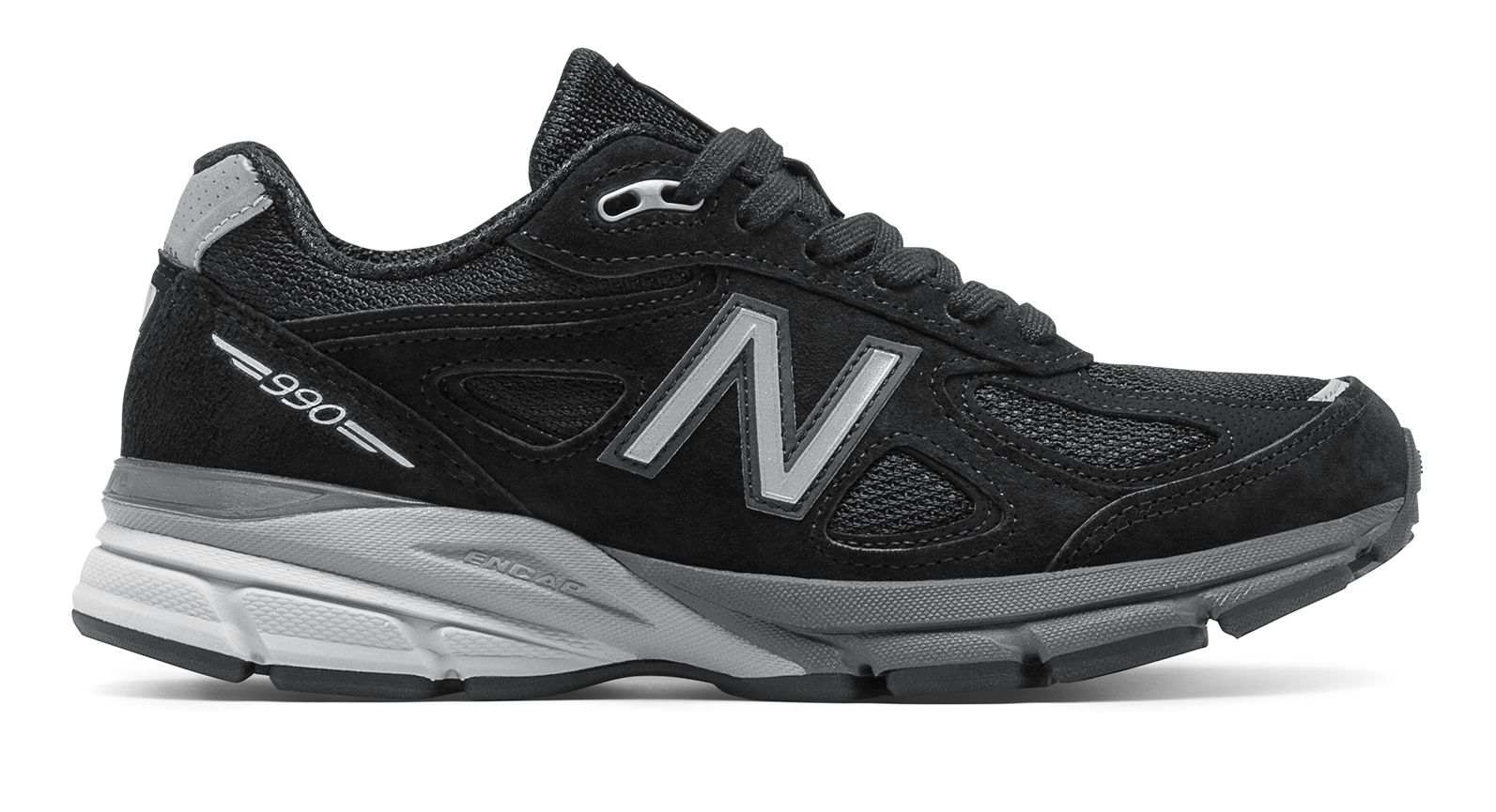 NB New Balance 990v4, Black with Silver