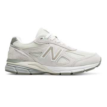 New Balance Womens 990v4 Made in US, Nimbus Cloud with Rose Gold