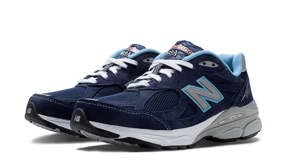 NB New Balance 990v3, Navy with White & Light Blue