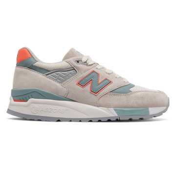 New Balance 998 New Balance, Sea Salt with Storm Blue