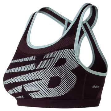 New Balance NB Pulse Bra, Black Rose