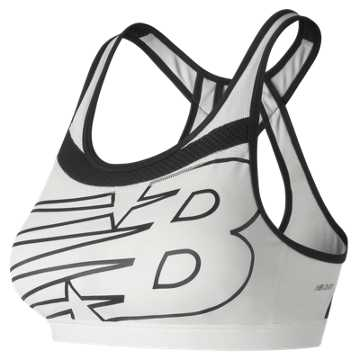 New Balance NB Pulse Bra, White with Black