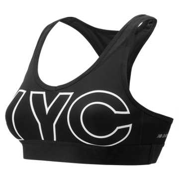 New Balance NB Pace City Bra, Black