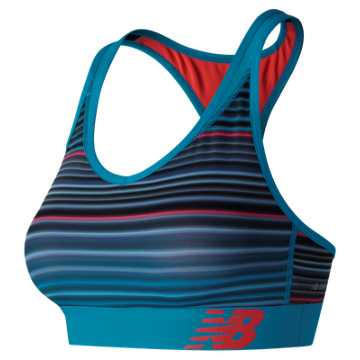 New Balance NB Pace Printed Bra, Maldives Blue
