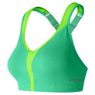 New Balance NB Power Bra, Vivid Jade with Lime Glo