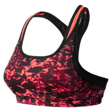 New Balance The Print Shapely Shaper Bra, Dragonfly Multi