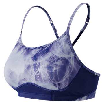 New Balance The Print Tenderly Obsessive Bra, Basin Multi with Basin