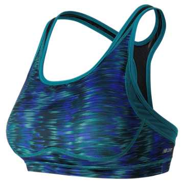 New Balance The Print Shapely Shaper Bra, Galaxy with Castaway & Black