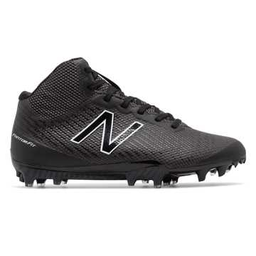 New Balance Burn X Mid-Cut, Black with White