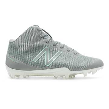 New Balance Burn X Mid-Cut, Grey with Seafoam