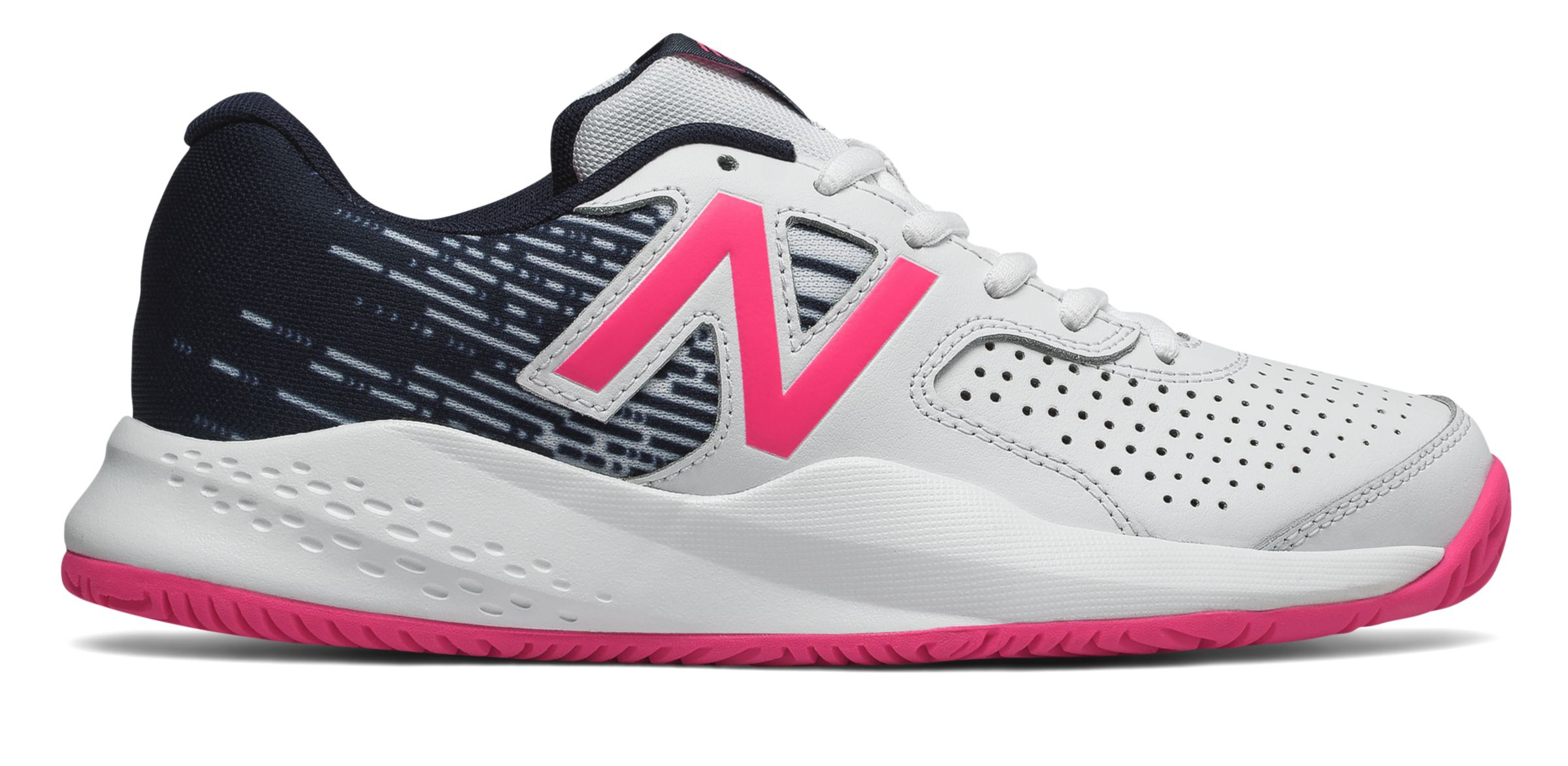 NB New Balance 696v3, White with Alpha Pink & Pigment