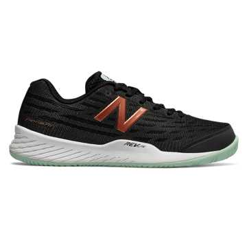New Balance 896v2, Black with Seafoam