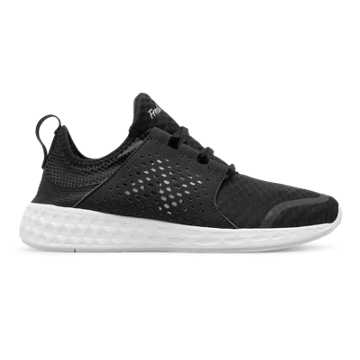 New Balance Womens Fresh Foam Cruz, Black with White