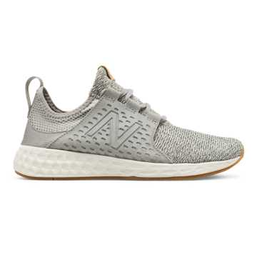 New Balance Womens Fresh Foam Cruz, Light Grey with Sea Salt & Gum