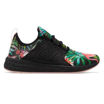 New Balance Fresh Foam Cruz Paradise, Black with Sunrise Glo