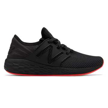 New Balance Fresh Foam Cruz v2 Sport, Black with Red