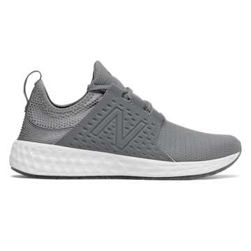 New Balance Womens Fresh Foam Cruz Sport, Gunmetal with Thunder & White