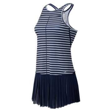 New Balance J.Crew Printed Tennis Dress, Navy Tennis Stripe with Plaster White