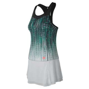 New Balance Printed Tournament Dress, Black with White