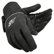 NB Team Field Player Glove, Black with Silver