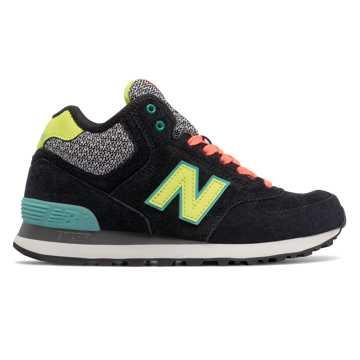 New Balance 574系列高帮复古鞋, 黑色