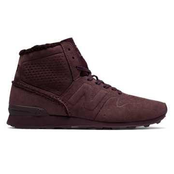 New Balance 996复古鞋 女款 避震保护, 酒红色