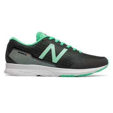 New Balance Hanzo T  女款 轻量缓震 快速反馈, 黑色/绿色