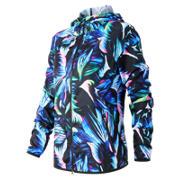 New Balance Night Floral Windcheater Hybrid Jacket, Bayside with Black & Sonar