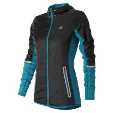 New Balance Performance Merino Hybrid Jacket, Castaway with Black