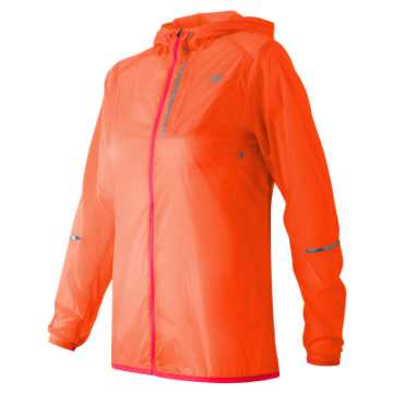 New Balance Lite Packable Jacket, Vivid Tangerine