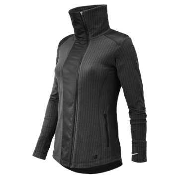 New Balance Novelty Heat Jacket, Charcoal Heather