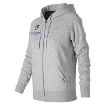 New Balance United NYC Half Finisher Hoodie, Athletic Grey with Black