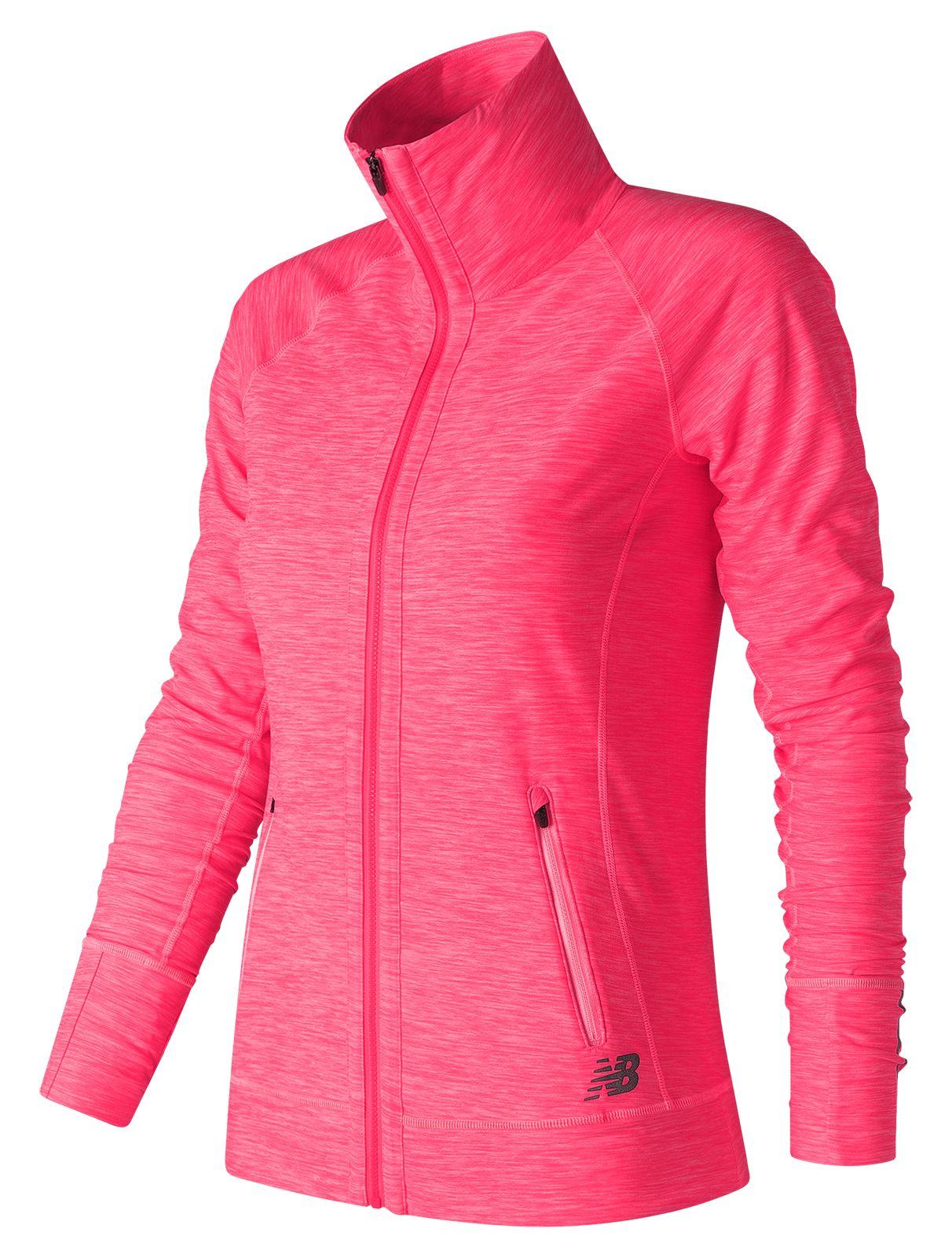 NB In Transit Jacket, Alpha Pink Heather