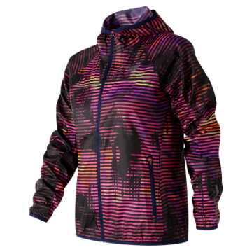 New Balance Windcheater Printed Jacket, Striped Velocity