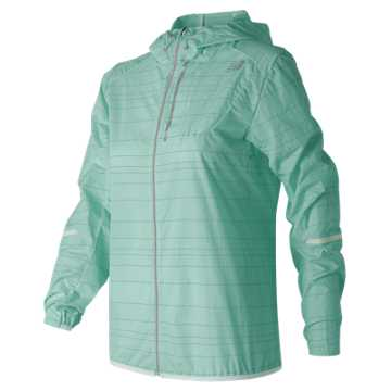 New Balance Reflective Light Packable Jacket, Water Vapor