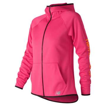 New Balance NB CoreFleece Full Zip, Alpha Pink