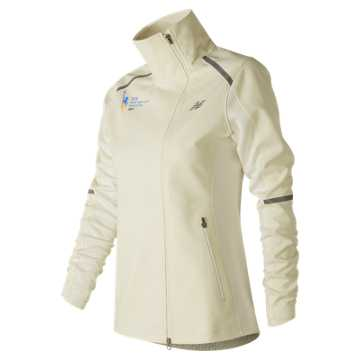 New Balance NYC Marathon Windblocker Jacket, Sea Salt