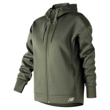 New Balance 247 Sport Full Zip Hoodie, Military Foliage Green