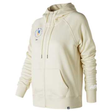 New Balance NYC Marathon Essentials Full Zip Hoodie, Angora
