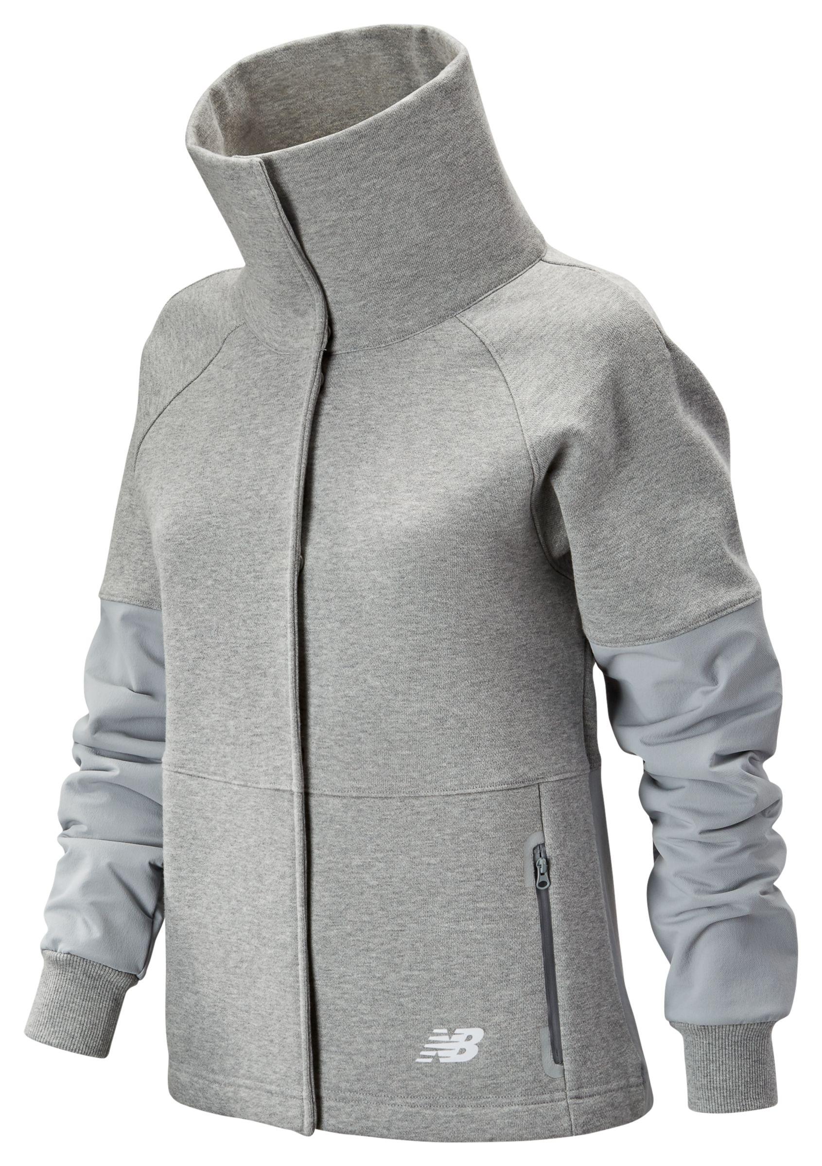 NB 247 Sport Mix Media Jacket, Athletic Grey