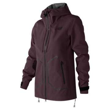 New Balance 247 Luxe 3 Layer Jacket, Black Rose