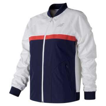 New Balance NB Athletics 78 Jacket, White with Navy